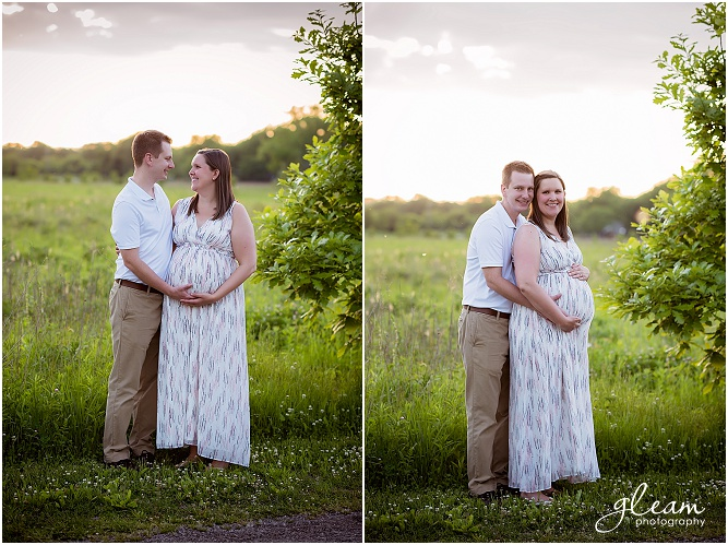Maternity photo session in Northrbook