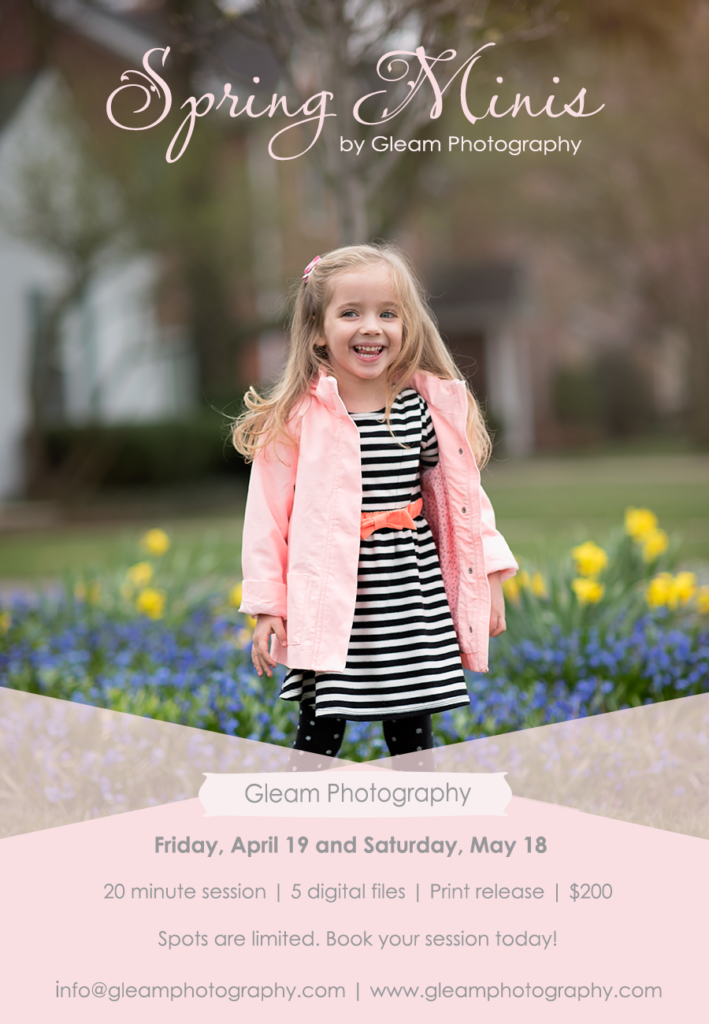 Gleam Photography Spring 2019 Mini Sessions